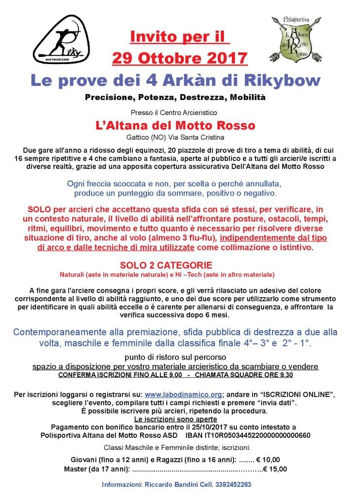 20171029 - Volantino Le prove dei 4 Arkàn di Rikybow