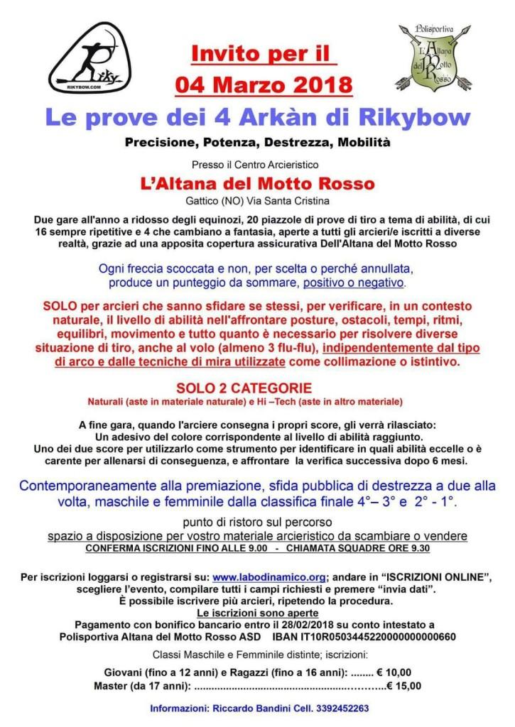 20180304 - Volantino Le prove dei 4 Arkàn di Rikybow